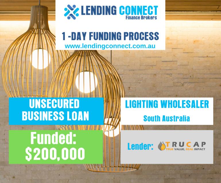 lighting wholesaler loan