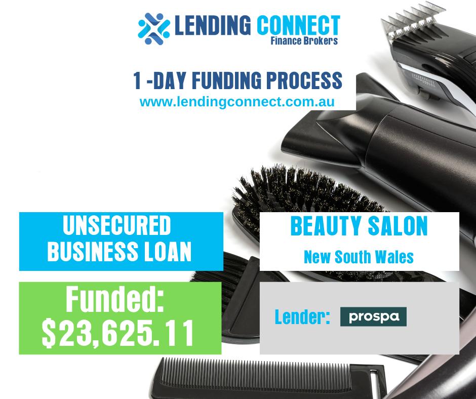 beauty salon loan